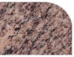 Half bullnose edge of a granite, quartz or marble countertop in Goshen, Indiana